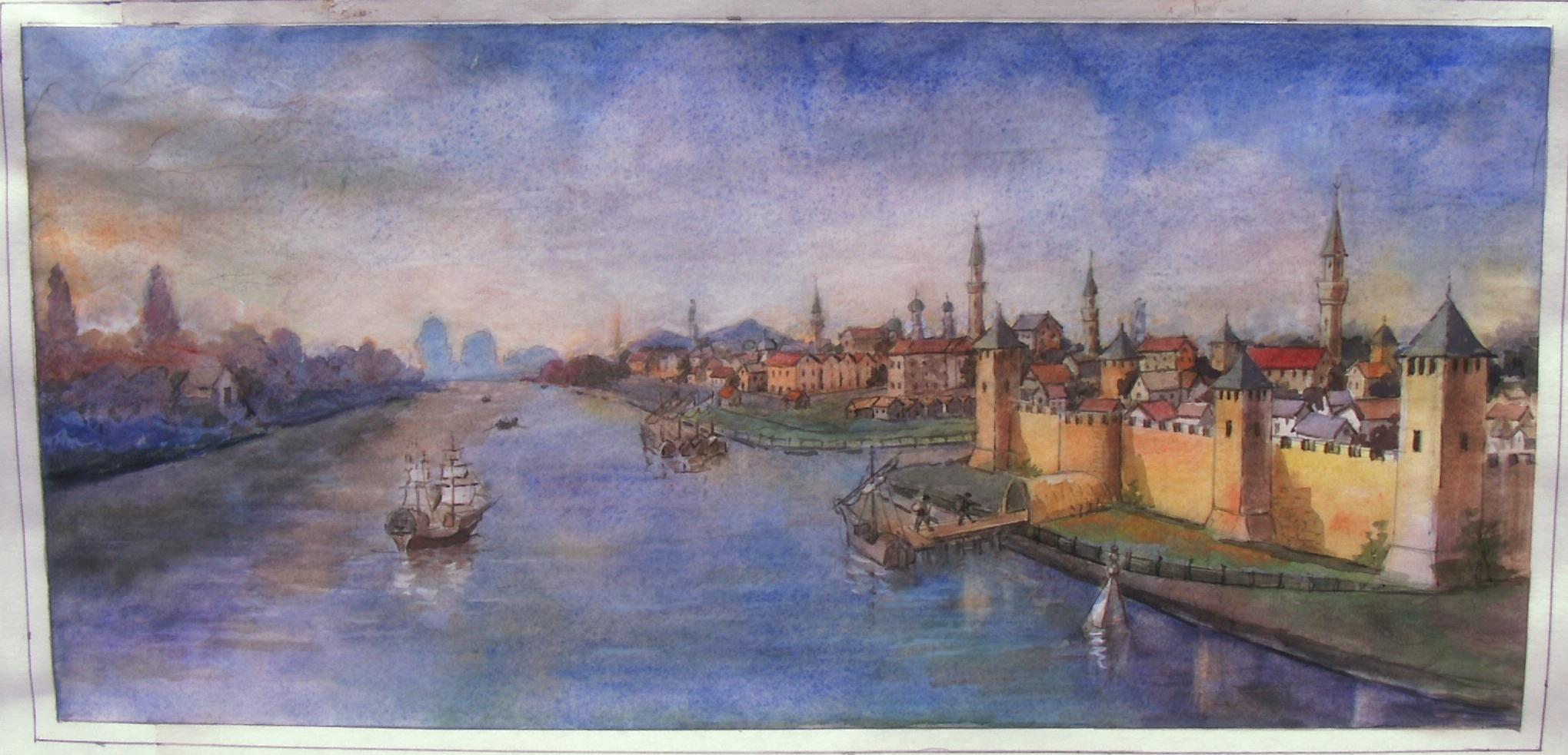 Из коллекции А.Н Дичева, Килийская крепость на берегу